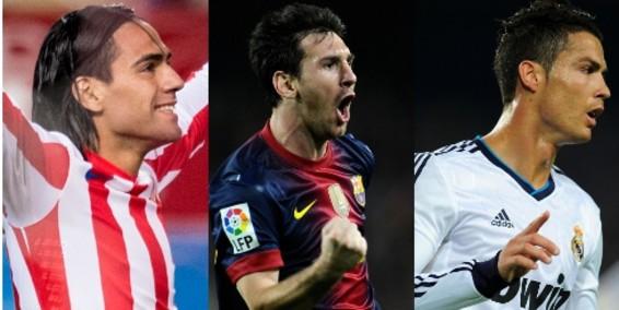 "Godín: ""Falcao y Messi están un escalón por encima de Cristiano"""